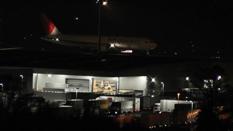Tokyo Narita Airport at Night 08 Stock Video Footage