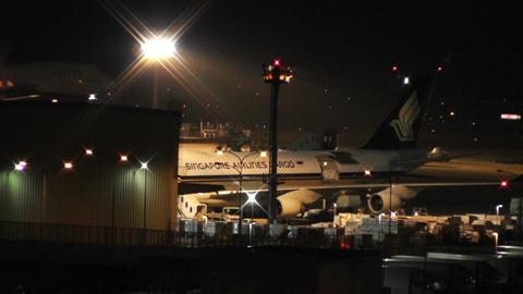 Tokyo Narita Airport at Night 10 Footage
