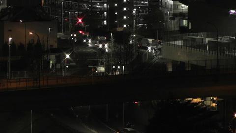 Tokyo Narita Airport at Night 12 Stock Video Footage