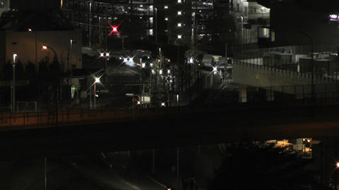 Tokyo Narita Airport at Night 12 Stock Video Footage
