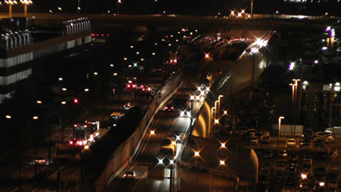 Tokyo Narita Airport at Night 14 traffic Stock Video Footage