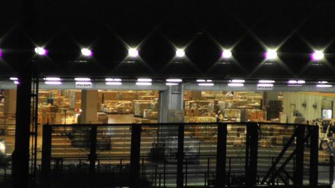 Tokyo Narita Airport at Night 16 cargo soft edges Footage