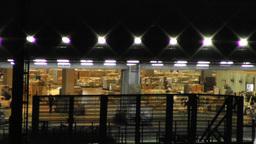 Tokyo Narita Airport at Night 16 cargo soft edges Stock Video Footage