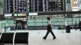 Tokyo Narita Airport Check in Area 02 fast motion timelapse Footage
