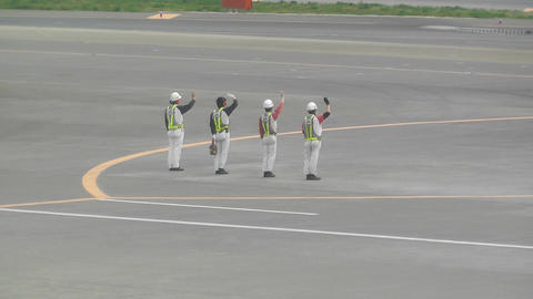 Tokyo Narita Airport Say Goodbye 02 handheld jal Stock Video Footage