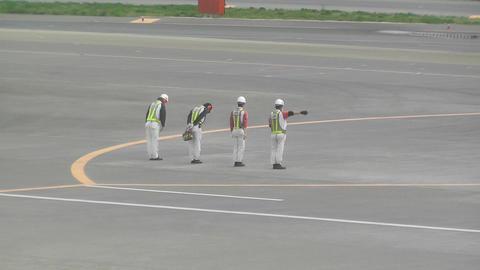 Tokyo Narita Airport Say Goodbye 02 handheld jal Footage