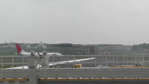 Tokyo Narita Airport Terminal 2 02 jal Stock Video Footage