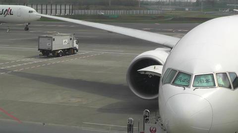 Tokyo Narita Airport Terminal 2 04 jal Stock Video Footage