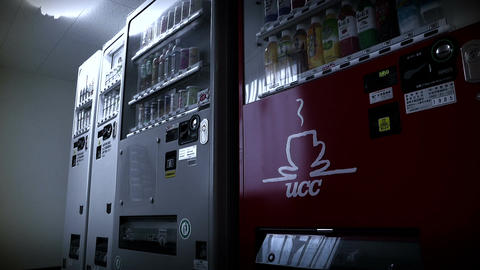 Vending Machines in Japan 02 stylized Stock Video Footage