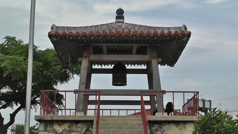 World Peace Bell in Ishigaki Okinawa Islands 02 Stock Video Footage