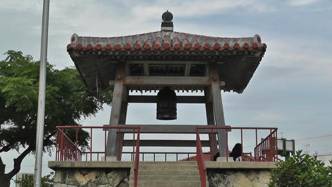 World Peace Bell in Ishigaki Okinawa Islands 02 Footage