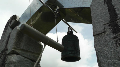 World Peace Bell in Ishigaki Okinawa Islands 04 sound Footage