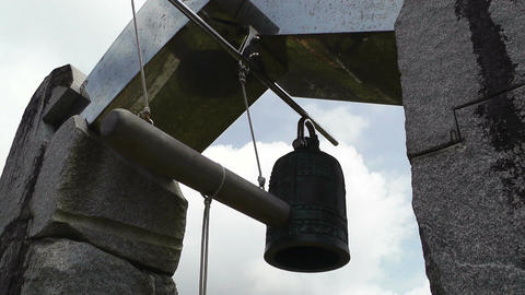 World Peace Bell in Ishigaki Okinawa Islands 06 60fps... Stock Video Footage