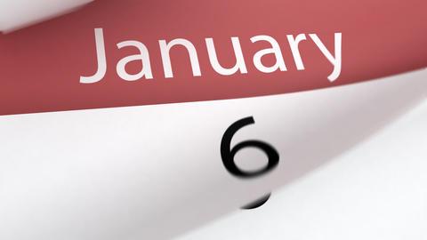 Calendar (year) Stock Video Footage