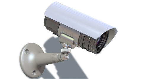 surveillance camera Stock Video Footage