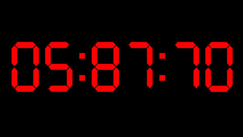 Countdown clock red led Animation