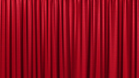 Opening and closing red curtain Animation
