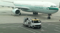 Beijing Capital International Airport 04 cathay pacific... Stock Video Footage