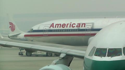 Beijing Capital International Airport 06 american handheld Stock Video Footage