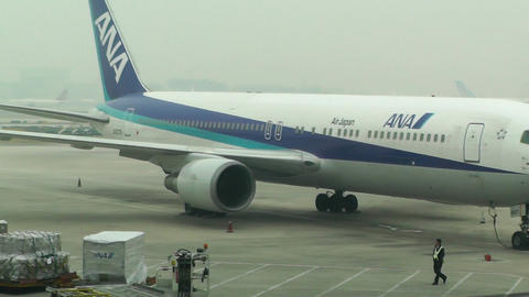 Beijing Capital International Airport 08 ana handheld Stock Video Footage