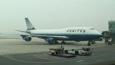 Beijing Capital International Airport 10 united Stock Video Footage