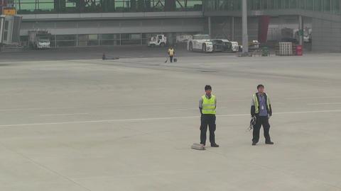 Beijing Capital International Airport 14 leaving handheld Stock Video Footage