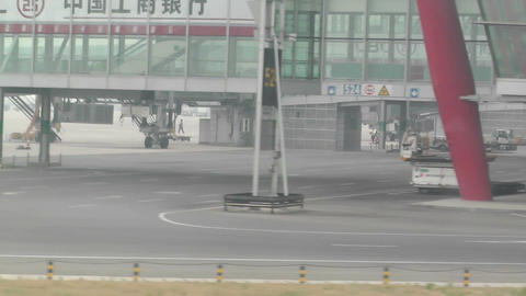 Beijing Capital International Airport 17 on the runway... Stock Video Footage