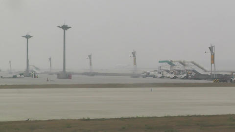 Beijing Capital International Airport 19 on the runway... Stock Video Footage