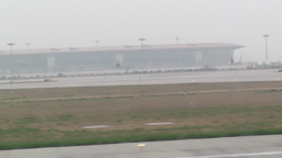 Beijing Capital International Airport 29 takeoff... Stock Video Footage