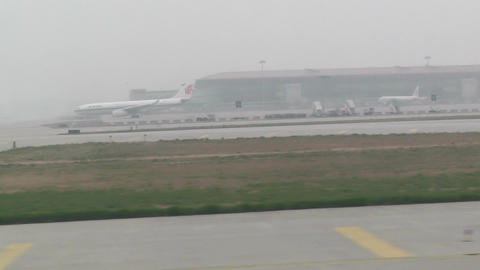 Beijing Capital International Airport 29 takeoff fastmotion handheld Footage