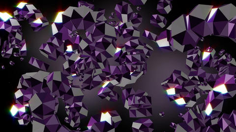 Diamond Quartz Amethyst Background Animation