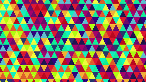 bright color triangles seamless loop geometric background 4k (4096x2304) Animation
