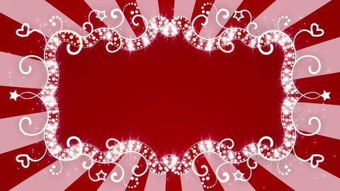 glowing red banner loopable animation 4k (4096x2304) Animation