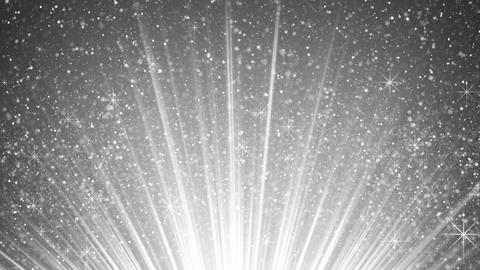 rising sparkling particles in white light rays loopable 4k (4096x2304) Animation