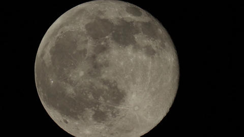 Moving full moon on the night sky 9569 Footage