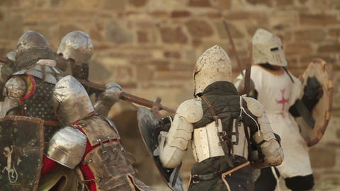 2538 battle of knights in armor Footage