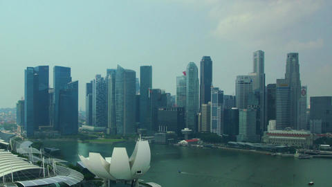 Panorama Of Singapore stock footage