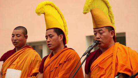 Tibetan Monks 1 stock footage