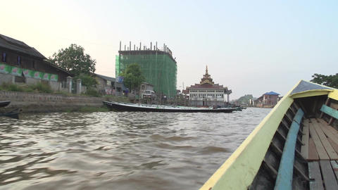 Nyaung Shwe, POV from boat on lake Live Action