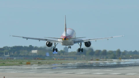 Iberia Airlines Jet Plane Approaching Landing stock footage