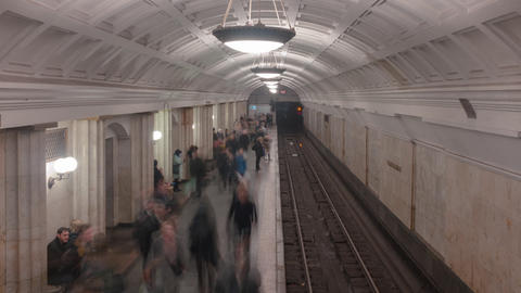 Subway Station Time lapse shoot Footage