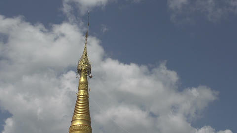 Nyaung Shwe, temple complex, detail of point Footage