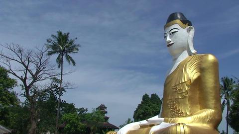 Pathein, Big Buddha statue at Pagoda Footage