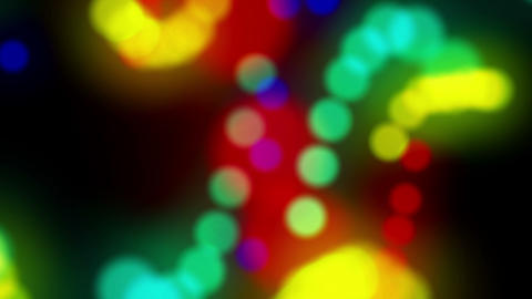 Colored Bokeh Spheres Rotation Swirl 4K Animation