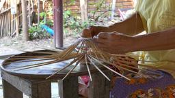 Umbrella Factory In Bo Sang, Thailand stock footage