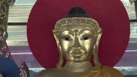 Shwedagon Pagoda, Buddha statue Footage