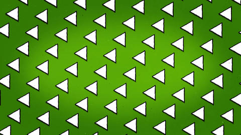 White Triangles Green Background Animation Seamless Looped Texture Animation