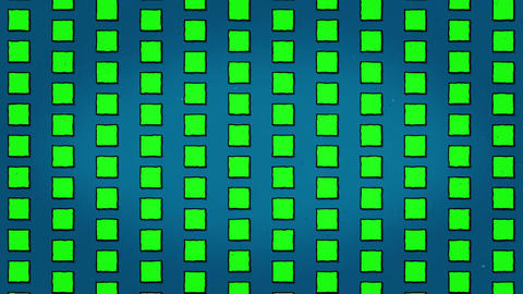 Yellow Green Squares Blue Background Animation Seamless Looped Texture CG動画素材