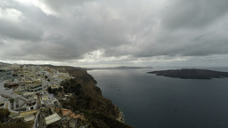 Santorini in a pan zoom Footage