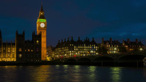 Big Ben Evening Timelapse Footage